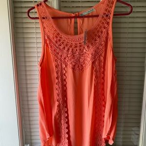 Coral dress tank top size med